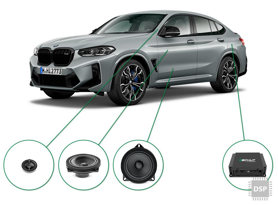 BMW X4 audio upgrade set 2