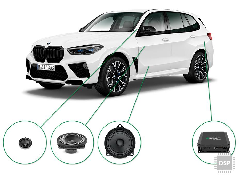 BMW X5 audio upgrade set 2