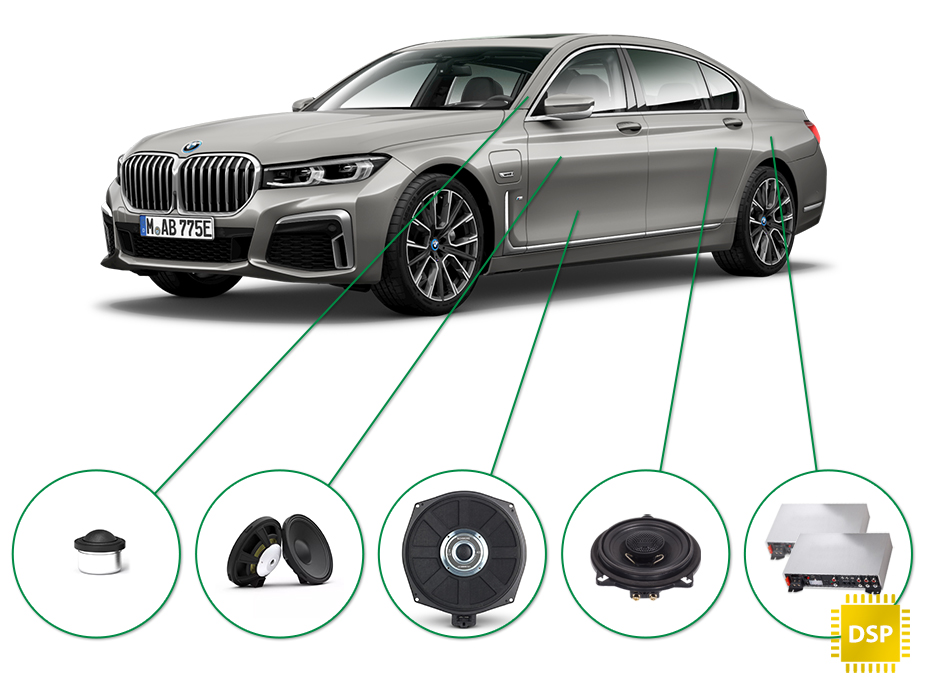 BMW 7 audio upgrade set 1