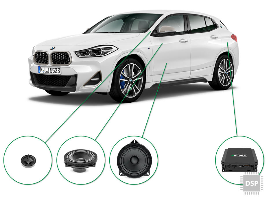 BMW X2 audio upgrade set 2