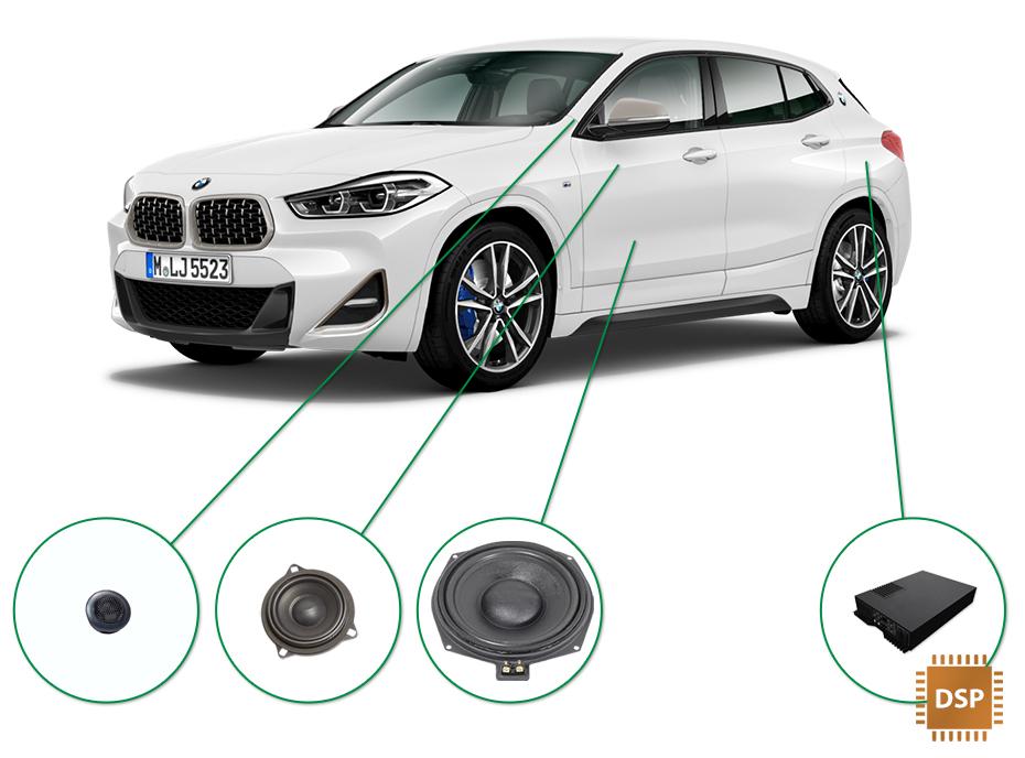 BMW X2 audio upgrade set 3