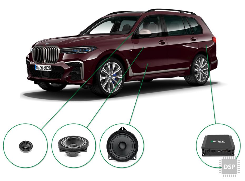 BMW X7 audio upgrade set 2